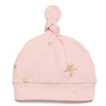 PINK STAR BRIGHT  KNOT HAT-HAT-Wilson and Frenchy