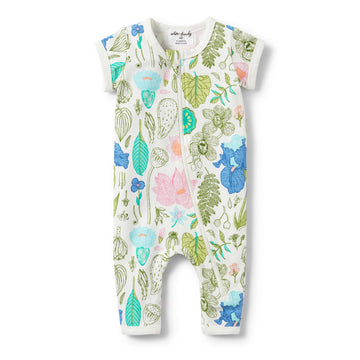 FLORA SHORT SLEEVE ZIPSUIT - Wilson and Frenchy