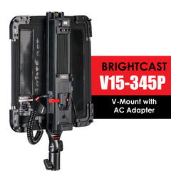 BrightCast V15-345P Video LED Lights with AC Adapter