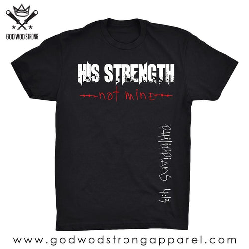 HIS STRENGHT MENS SHIRT