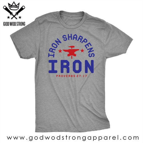 irons sharpens iron mens shirt