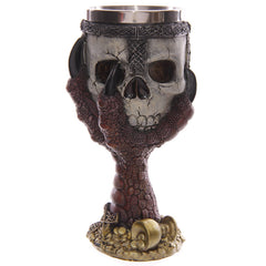 Decorative Dragons Claw and Skull Goblet