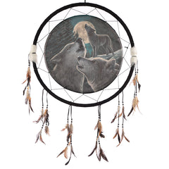 Decorative Fantasy Wolf Family Dreamcatcher Large