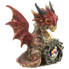 Crystal Protector Fantasy Nightmare Dragon Figurine