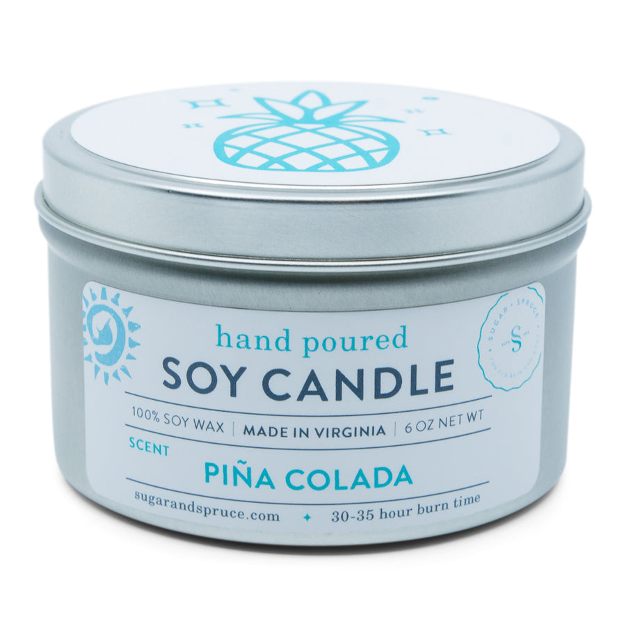 Pina Colada Tin Candle