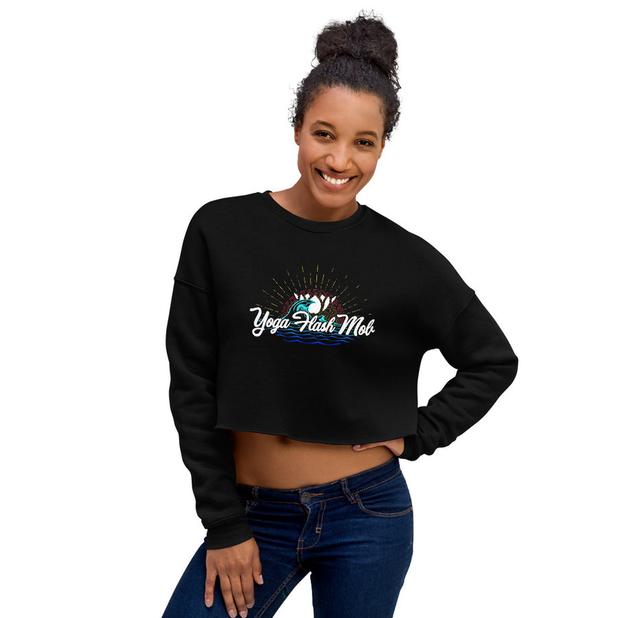 Yoga Flash Mob Crop Sweatshirt