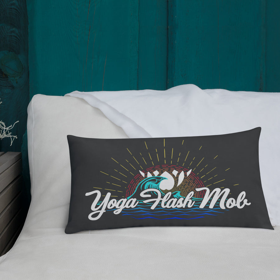 Yoga Flash Mob Comfy Pillow