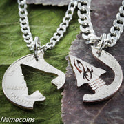 Indian Jewelry, Arrowhead Necklaces, Hand Cut Quarter by Namecoins