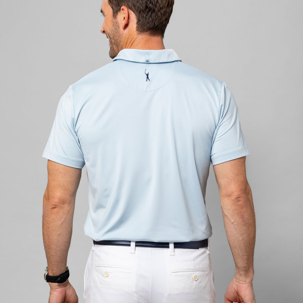 Phil Mickelson Golf Polo - Light Blue, lifestyle/model photo