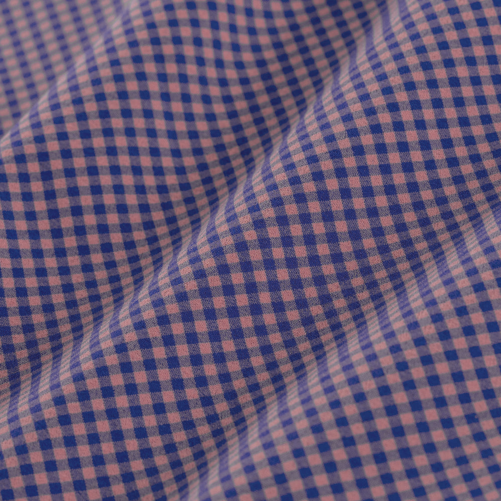 Peterson - Red Blue Check, fabric swatch closeup