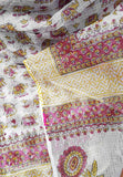 Elegant Kota cotton Saree with Mughal block print motifs (without bp)