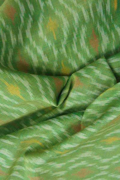 Elegant Woven Ikkat Silk Cotton Fabric