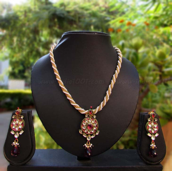 Gorgeous Kundan & Pearl Necklace Set