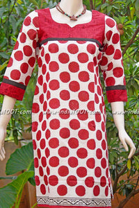 Designer cotton kurta
