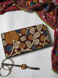 Blue Kalamkari Clutch