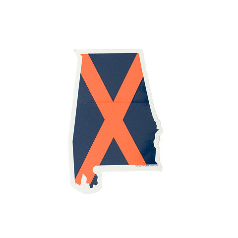 Alabama Auburn Traditional Sticker
