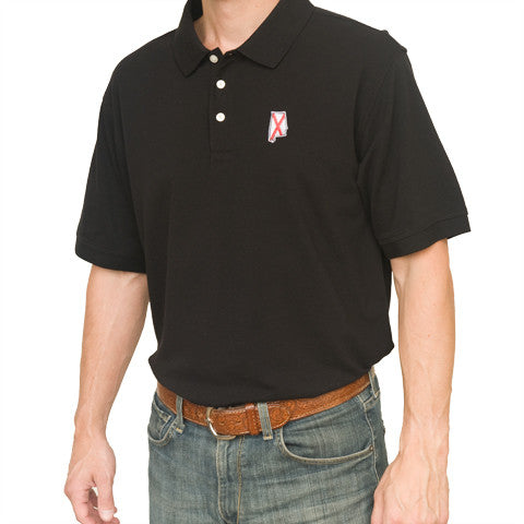 Alabama Traditional Polo Black