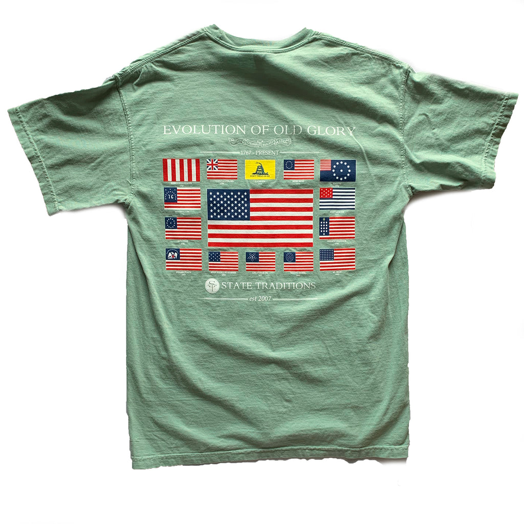 USA, America, Old Glory, Evolution of Old Glory, The Progression of Freedom,  Bay, Bay tee, t-shirt, tee shirt