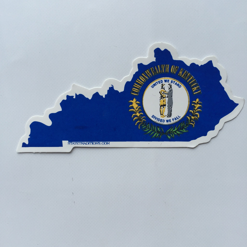 Kentucky Flag Decal, Kentucky Flag Sticker, Commonwealth Sticker, Flag of Kentucky Sticker