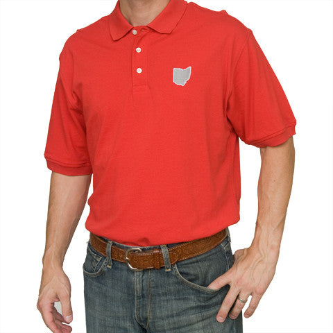 Ohio Columbus Gameday Polo Scarlet
