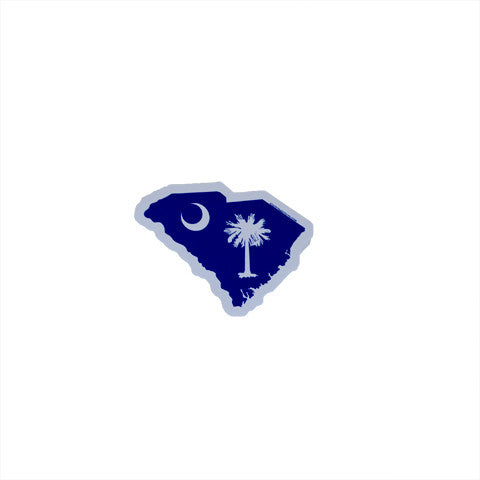 South Carolina Sticker, Charleston South Carolina, Palmetto Moon, South Carolina State Shape Sticker Decal