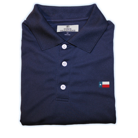 Texas Flag Performance Polo