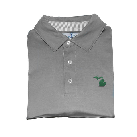 Michigan East Lansing Gameday Signature Polo