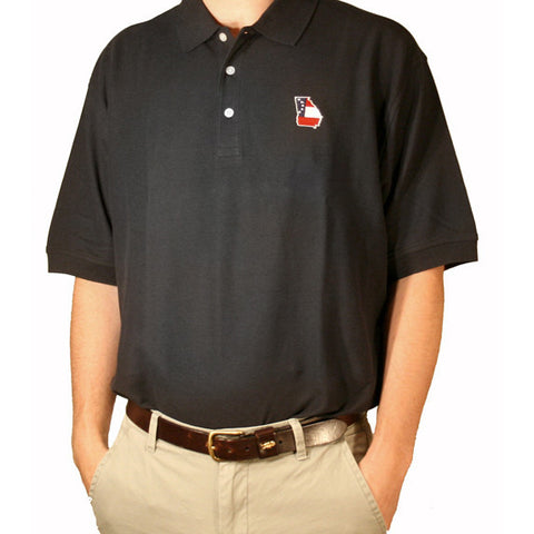 Georgia Traditional Polo Black