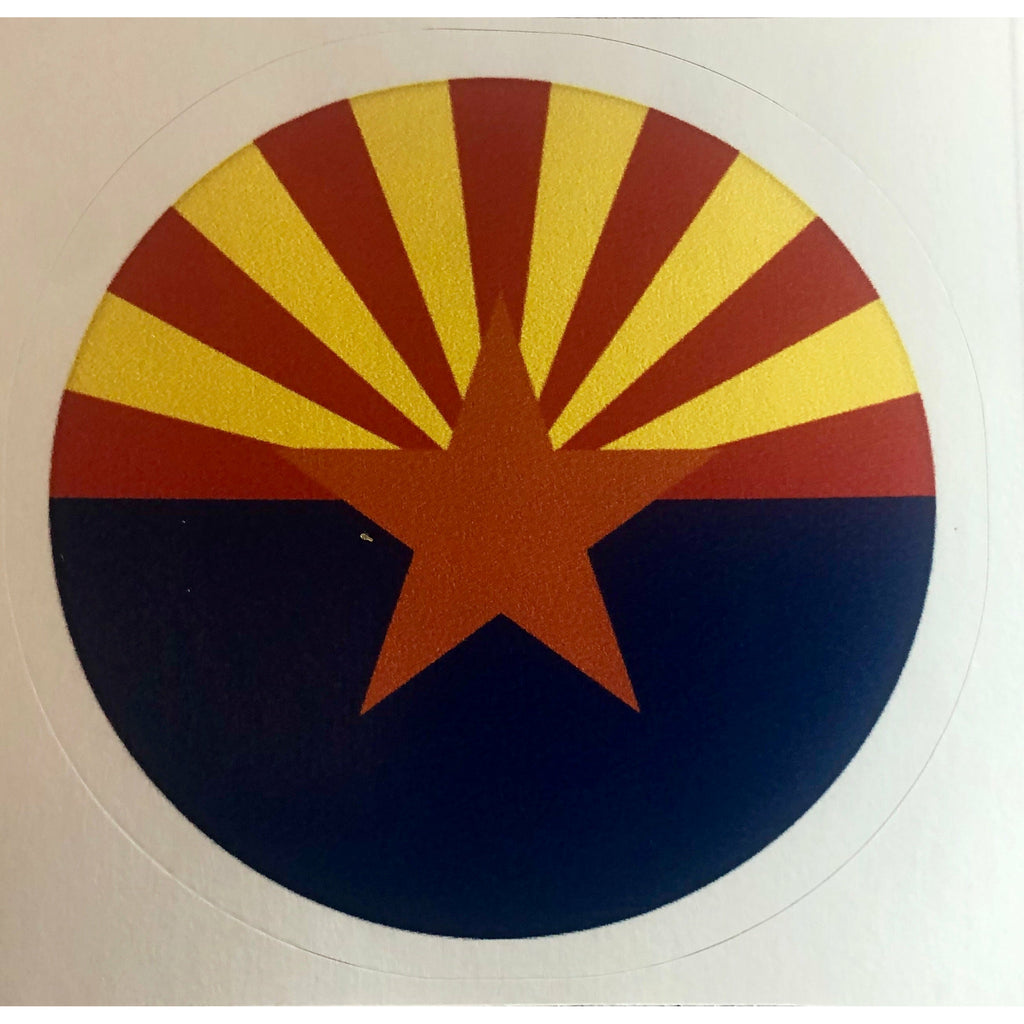 Arizona Decal, Arizona Flag, Circle Sticker, Zona, Phoenix, Doug Ducey, Humphreys Peak
