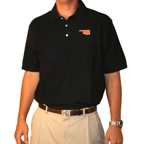 Oklahoma Stillwater Gameday Polo Black