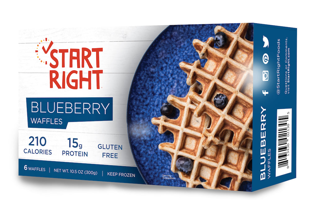 Blueberry Protein-Packed Belgian Waffles