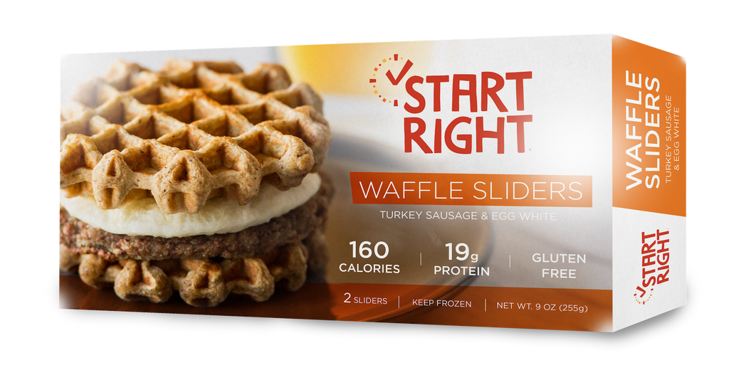 Waffle Sliders - Turkey Sausage & Egg White
