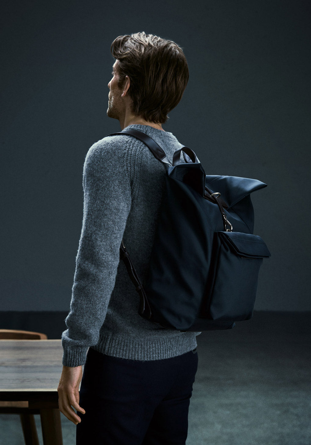 M/S Day Pack – Navy/Dark Brown collection 1