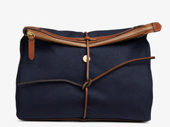 M/S Carry - Midnight blue/Cuoio -  Washbag - Mismo