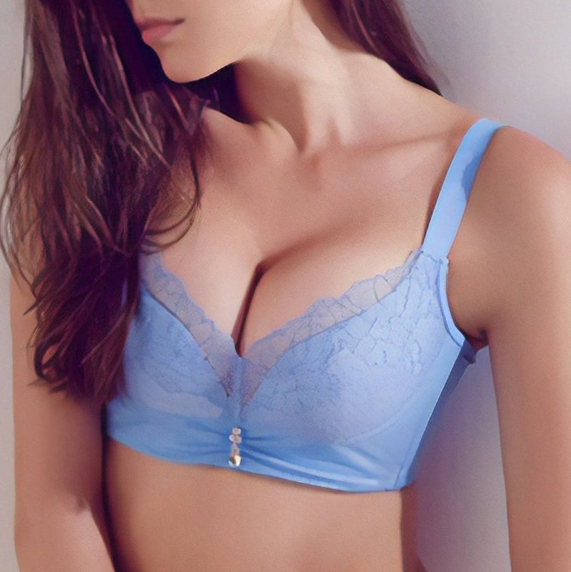 No Side Effects Plunge Wireless Push In Bra 1