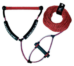 Wakeboard Rope with Phat Grip (Red)
