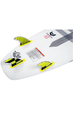 "4.75"" Carbon Wake Surf Fin Set W/Key By Hyperlite"