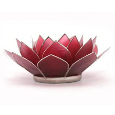 Birthstone Capiz Lotus Candle Holder