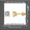 Cubic Zirconia Earrings- Customizable Round Cut Piercing Earring Set