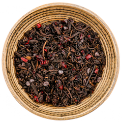 Pu'erh tea with chocolate and cherry