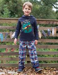 Frugi Campfire Hooded Top Navy World