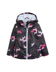 Tom Joules Mädchen-Regenjacke Einhorn Navy Magic Unicorn