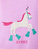T-Shirt Maggie Stripe Horse in Pink von Tom Joule