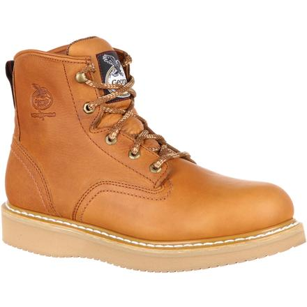 Georgia #G6152   Men's Wedge Work Boot Soft Toe Barracuda Gold