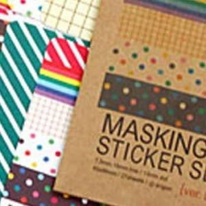 Masking Sticker Set | DIY Themed Party Supplies