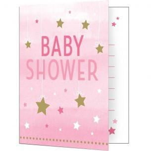 Party Creations | One Little Star Pink Invitations - Baby Shower