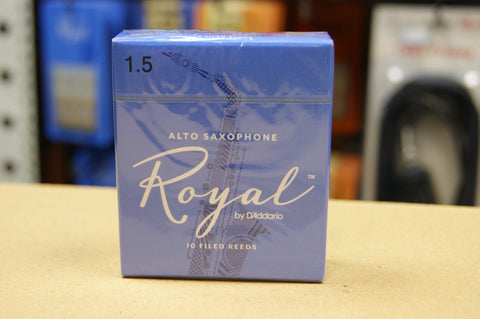 Rico Royal 1.5 alto sax reeds (Box of 10)