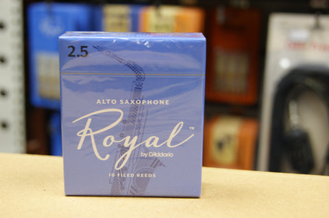 Rico Royal 2.5 alto sax reeds (Box of 10)