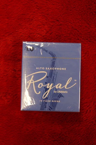Rico Royal 1 alto sax reeds (Box of 10)