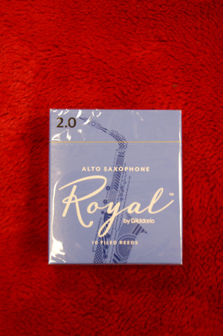 Rico Royal 2 alto sax reeds (BOX OF 10)